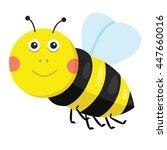 illustration of bee   Shutterstock .eps vector #447660016