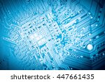 circuit board closeup  abstract ... | Shutterstock . vector #447661435