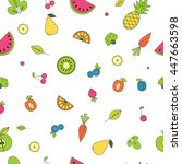 bright seamless pattern with... | Shutterstock .eps vector #447663598
