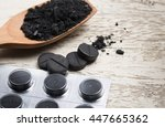 activated carbon on white | Shutterstock . vector #447665362