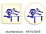 runner stamp and button... | Shutterstock .eps vector #44767645