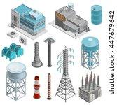 industrial buildings isometric... | Shutterstock .eps vector #447679642