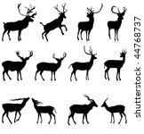 deer silhouette collection... | Shutterstock .eps vector #44768737
