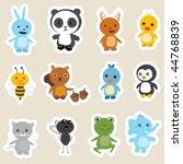 animals stickers | Shutterstock .eps vector #44768839