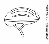 bicycle helmet icon in outline... | Shutterstock . vector #447691852