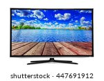 4k monitor isolated on white | Shutterstock . vector #447691912