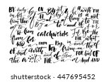 collection of hand drawn... | Shutterstock .eps vector #447695452
