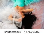 beautiful young woman in a... | Shutterstock . vector #447699682