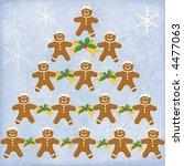 adorable gingerbread christmas tree - stock photo