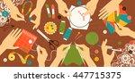 illustration kinds of handwork. ... | Shutterstock .eps vector #447715375