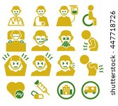 sick  ailing icon set | Shutterstock .eps vector #447718726