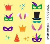 festive birthday party elements ... | Shutterstock .eps vector #447719032