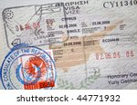 page of passport with cyprus... | Shutterstock . vector #44771932