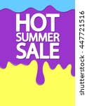 hot summer sale  melting ice... | Shutterstock .eps vector #447721516