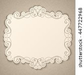 elegant luxury vintage... | Shutterstock . vector #447722968