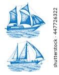 ships vector set  design... | Shutterstock .eps vector #447726322