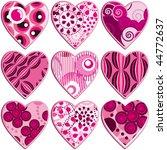 set of hearts   Shutterstock .eps vector #44772637