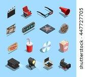 cinema movie theater... | Shutterstock .eps vector #447727705