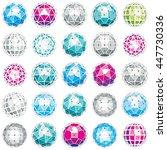 3d vector digital wireframe... | Shutterstock .eps vector #447730336