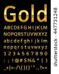 gold letter   Shutterstock .eps vector #447731248