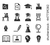 study icons   vector icon set | Shutterstock .eps vector #447739282