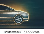 race on the night streets | Shutterstock . vector #447739936