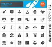 startup solid icons set  modern ... | Shutterstock .eps vector #447744142