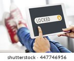 locked accessible permission... | Shutterstock . vector #447746956