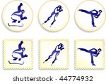 winter sports collection...   Shutterstock .eps vector #44774932