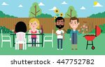 illustration of friends having... | Shutterstock .eps vector #447752782