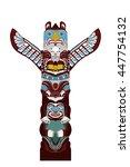 indian ritual totem  sculpture... | Shutterstock .eps vector #447754132