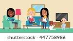 illustration of women having... | Shutterstock .eps vector #447758986