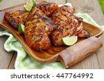 grilled chicken breast served... | Shutterstock . vector #447764992