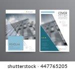 business template for brochure  ... | Shutterstock .eps vector #447765205