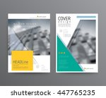 business template for brochure  ... | Shutterstock .eps vector #447765235