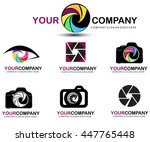 photography logo design | Shutterstock .eps vector #447765448