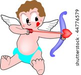 valentine cupid with bow | Shutterstock .eps vector #44776579