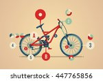 bike info graphic | Shutterstock .eps vector #447765856