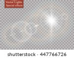 vector transparent sunlight... | Shutterstock .eps vector #447766726