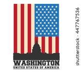 washington dc city concept.... | Shutterstock .eps vector #447767536