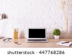 front view of creative hipster... | Shutterstock . vector #447768286