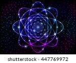 sacred spiritual geometry... | Shutterstock .eps vector #447769972