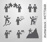 icons businessmen. business...   Shutterstock .eps vector #447773668