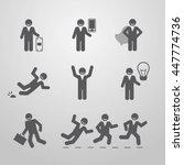 icons businessmen. business... | Shutterstock .eps vector #447774736