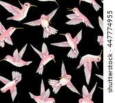 vector seamless flying little... | Shutterstock .eps vector #447774955