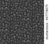 seamless background hand drawn...   Shutterstock .eps vector #447778075