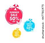 summer sale 50  off marks   Shutterstock .eps vector #447781975