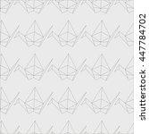 gray cranes seamless pattern.... | Shutterstock .eps vector #447784702