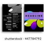 abstract background with liquid ... | Shutterstock .eps vector #447784792