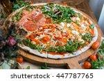 assorted pizza | Shutterstock . vector #447787765